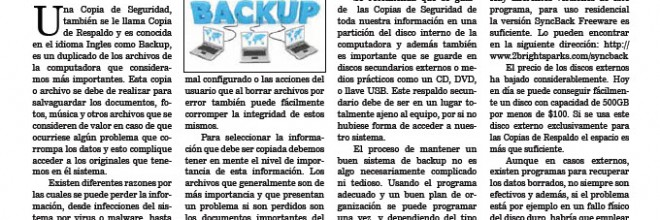 Que es una Copia de Segurida (Backup)