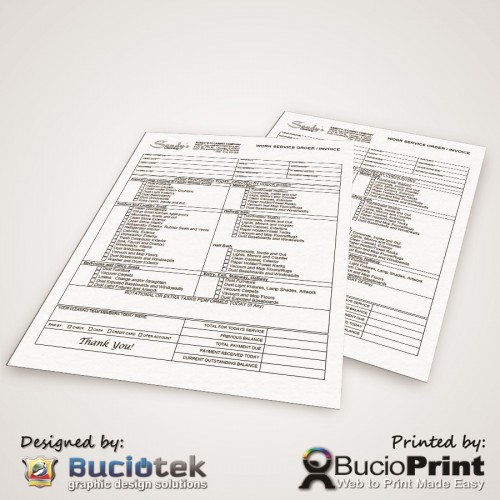 NCR Forms for Cleaning Company